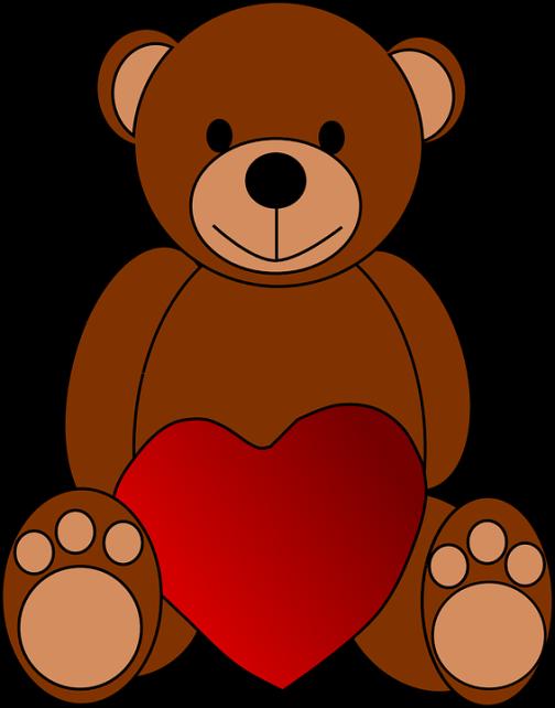 osito corazón